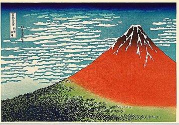 Resultado de imagen de katsushika hokusai fuji