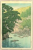 Hasui Kawase 1883-1957 - Yugashima in Ito