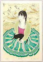 Ryusei Okamoto born 1949 - First Love # 33 - Black Cat