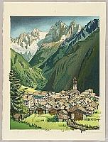 Osamu Sugiyama born 1946 - Quiet Village Soglio - Italy