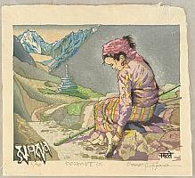 Osamu Sugiyama born 1946 - A Girl of Himalaya - I