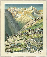 Osamu Sugiyama born 1946 - Village in the Himalayan Mountains - Nepal