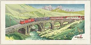 Osamu Sugiyama born 1946 - Switzerland - Glacier Express (FO)