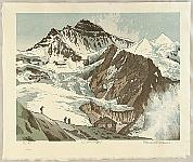 Osamu Sugiyama born 1946 - Switzerland - Looking up Mt. Jungfrau