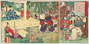 Toyonobu Utagawa 1859-86 - Benkei reading Kanjincho