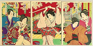 Hosai Baido 1848-1920 - Revenge - Kabuki