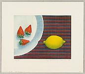 Nobuo Sato born 1926 - Three Strawberries and Lemon
