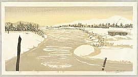 Shiro Ozaki 20th century - Icy River