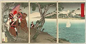 Toshimasa  active ca. 1894 - Sino-Japanese War - Daedong River