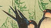 Sozan Ito 1884-? - Barn Swallows and Willow