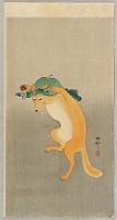 Koson Ohara 1877-1945 - Dancing Fox