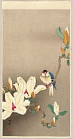 Koson Ohara 1877-1945 - Rice Bird and Magnolia