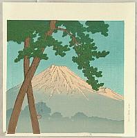 Hasui Kawase 1883-1957 - Twelve Famous Sceneries - Mt. Fuji at Dawn