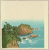 Hasui Kawase 1883-1957 - Twelve Famous Sceneries - Nishiki Bay in Atami