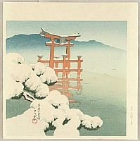 Hasui Kawase 1883-1957 - Twelve Famous Sceneries - Miyajima after the Snow