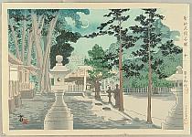 Tomikichiro Tokuriki 1902-1999 - Famous Historic Places and Holy Places - Nichizen Shrine