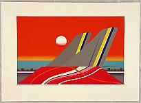 Kenji Kusaka born 1936 - Twilight at Haneda Airport
