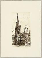 Tokio Miyashita born 1930 - Ex-libris Scenery of New York - Grace Church