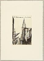 Tokio Miyashita born 1930 - Ex-libris Scenery of New York - Chrysler Building