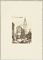 Tokio Miyashita born 1930 - Ex-libris Scenery of New York - Empire State Building 2