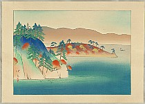 Eikyu Matsuoka 1881-1938 - Eight Scenic Views of Japan - Towada Lake