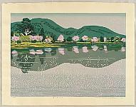 Fumio Kitaoka 1918-2007 - Osawa Pond in the Spring