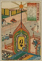 Kuniyoshi Utagawa 1797-1861 - 100 Poems by 100 Poets - Sojo Henjo