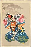 Shunsen Natori 1886-1960 - New Portraits of Kabuki Actors - Ichikawa Hanshiro
