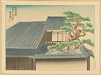 Tomikichiro Tokuriki 1902-1999 - Old House at Matsuzaka Castle