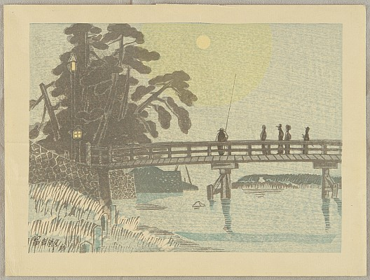 Tomikichiro Tokuriki 1902-1999 - Bridge and the Moon