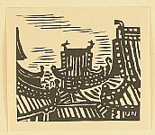 Unichi Hiratsuka 1895-1997 - Temple Roofs