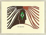 Kiyoshi Saito 1907-1997 - Saito Kiyoshi Card - Steady Gaze