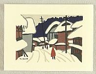 Kiyoshi Saito 1907-1997 - Saito Kiyoshi Card - Winter in Aizu