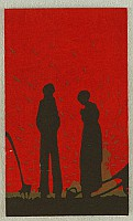 Kaichi Kobayashi fl. ca. 1930 - Farmers in the Sunset