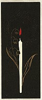 Unknown - Handmade Woodblock Envelope - Candle and Lily of the Valley