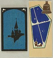 Unknown - Handmade Woodblock Envelopes - Church