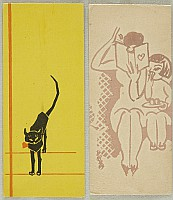 Unknown - Handmade Woodblock Envelopes - Cat and Family