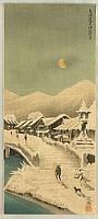 Eisho Narazaki 1864-1936 - The Moon over Kusatsu in Tokaido