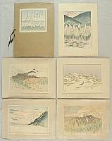Tsuruzo Ishii 1887-1973 - Prints of Scenery of Japan Vol.10 - Nihon Alps Region
