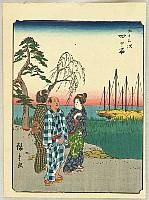 Hiroshige Ando 1797-1858 - Figure Tokaido - Yokkaichi