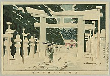 Kiyochika Kobayashi 1847-1915 - Famous Places in Tokyo - Ueno Park