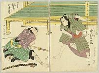 Toyokuni Utagawa 1769-1825 - Fighting Samurai - Kabuki