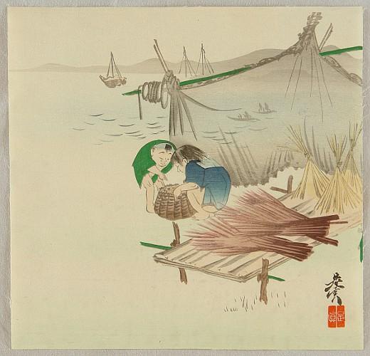 Zeshin Shibata 1807-1891 - Children of the Sea
