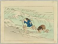 Zeshin Shibata 1807-1891 - Children in the Sea