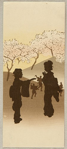 Unknown - Silhouettes in a Cherry Blossoms Viewing