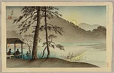 Yoshimitsu Nomura 1870 - 1958 - Famous Places of Kyoto - Hirosawa Pond