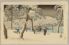 Yoshimitsu Nomura 1870 - 1958 - Famous Places of Kyoto - Snowy Night