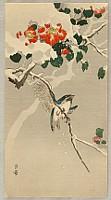 Gesso Yoshimoto 1881-1936 - Bird and Snow-Covered Camellia
