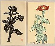 Masao Maeda 1904-1974 - Red Flower and Black Flower
