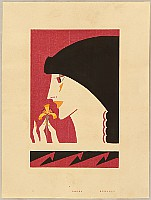 Hisui Sugiura 1876-1965 - Collection of Creative Designs by Hisui - Girl and Flower